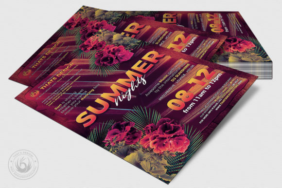 Summer Nights Flyer Template Graphic By ThatsDesignStore Image 4