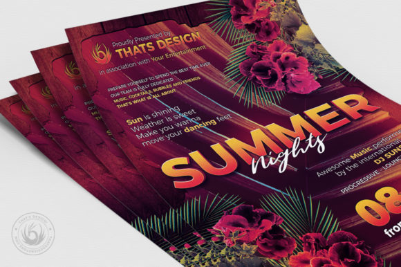 Summer Nights Flyer Template Graphic By ThatsDesignStore Image 5
