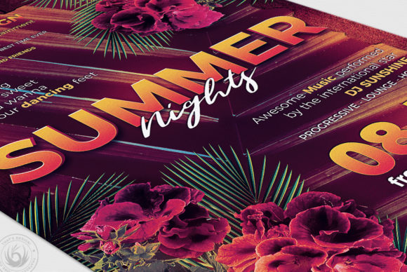Summer Nights Flyer Template Graphic By ThatsDesignStore Image 6