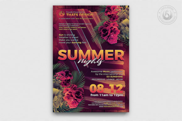 Summer Nights Flyer Template Graphic By ThatsDesignStore