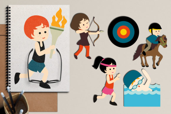 Print on Demand: Summer Sport Graphic Illustrations By Revidevi