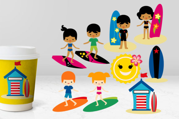 Print on Demand: Summer Surf's Up Graphic Illustrations By Revidevi