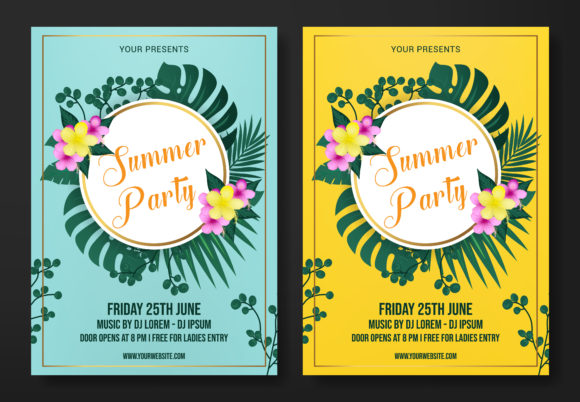 Summer Flyer Template Graphic By SugarV_Creative