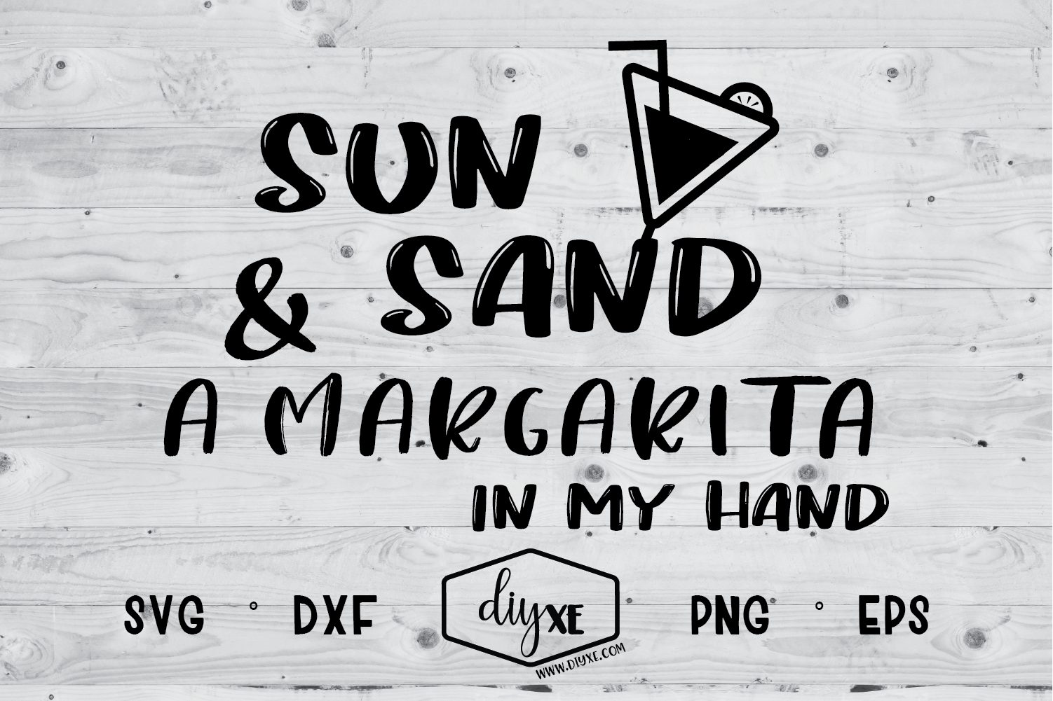 Download Free Sun Sand Margarita In My Hand Graphic By Sheryl Holst for Cricut Explore, Silhouette and other cutting machines.