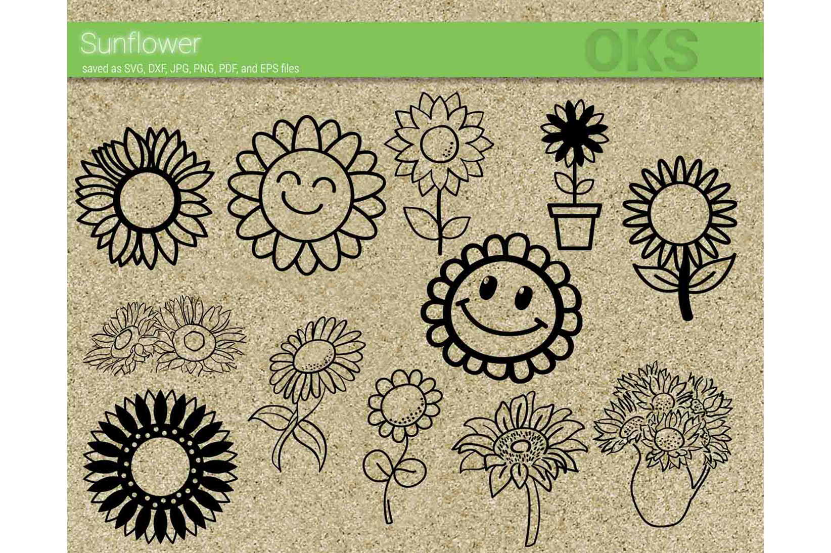 Download Free Sunflower Graphic By Crafteroks Creative Fabrica for Cricut Explore, Silhouette and other cutting machines.
