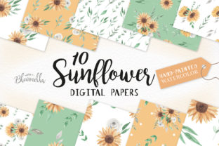 Sunflower Watercolor Seamless Patterns Graphic By Bloomella
