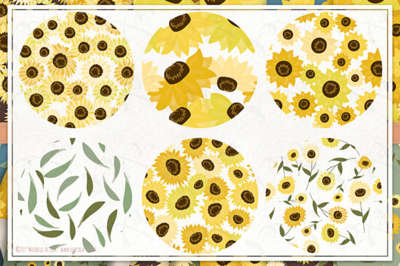 Sunflowers - Seamless Patterns Graphic Item