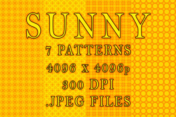 Sunny Graphic Patterns By vessto