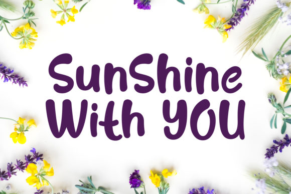 Print on Demand: Sunshine with You Script & Handwritten Font By Keithzo (7NTypes) - Image 1