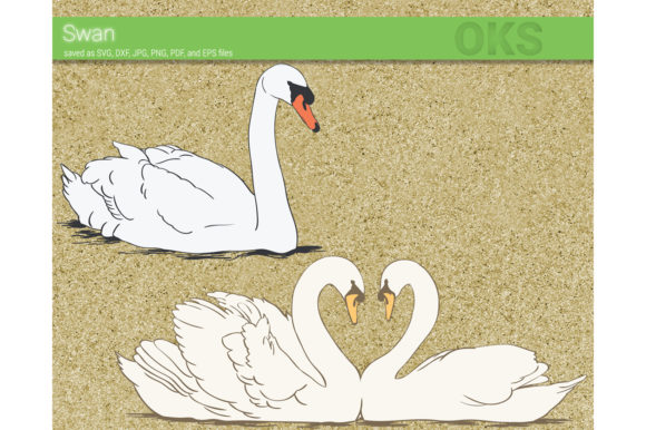Download Free Swan Graphic By Crafteroks Creative Fabrica for Cricut Explore, Silhouette and other cutting machines.