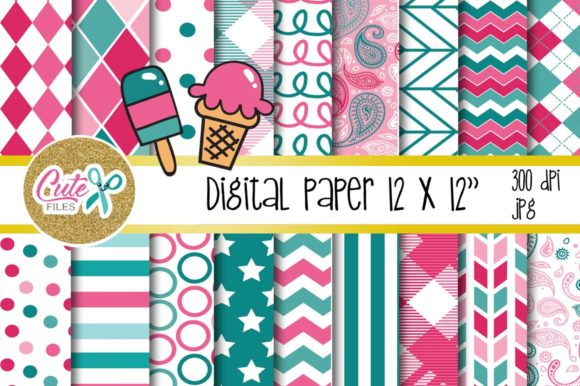 Sweet Digital Paper for Scrabooking Graphic Textures By Cute files