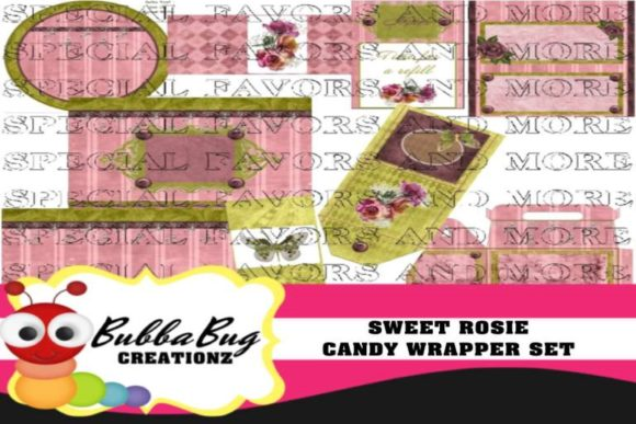 Sweet Rosie Candy Wrapper Set Graphic Crafts By BUBBABUG