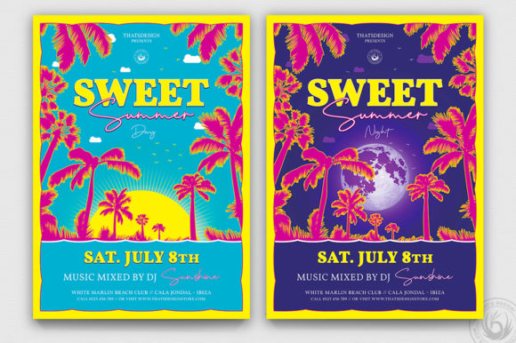 Sweet Summer Flyer Template Graphic By ThatsDesignStore
