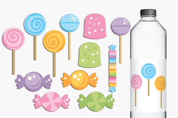 Print on Demand: Sweets and Lollipops Graphic Illustrations By Revidevi