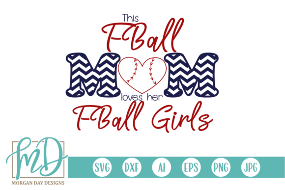 Print on Demand: T Ball Mom Loves Her T Ball Girls SVG Graphic Crafts By Morgan Day Designs