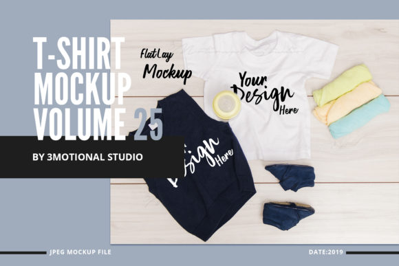 Print on Demand: T-Shirt Mockup Volume 25 Graphic Product Mockups By 3Motional