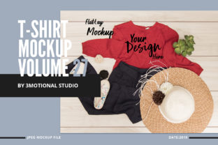 Print on Demand: T-Shirt Mockup Volume 27 Graphic Product Mockups By 3Motional