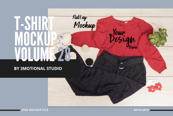 T-Shirt Mockup Volume 28 Graphic By 3Motional