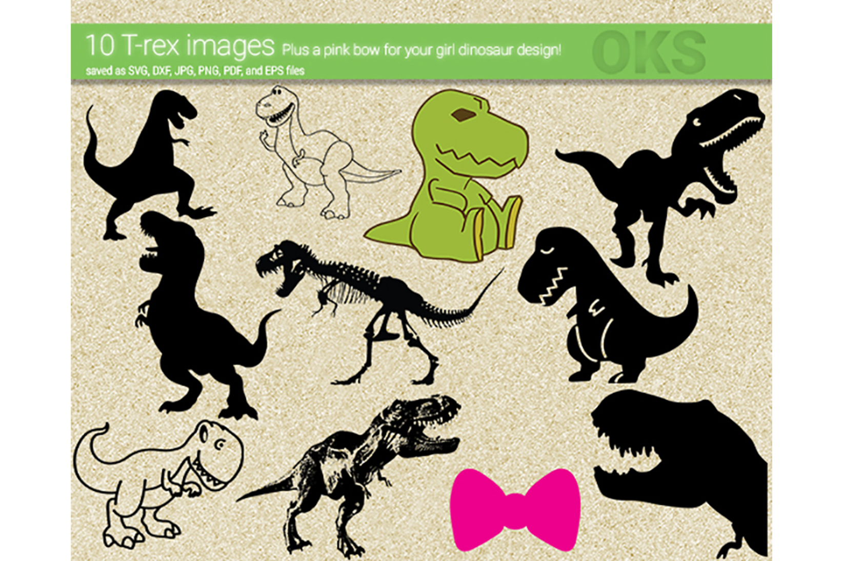 Download Free T Rex Dino Svg Vector Graphic By Crafteroks Creative Fabrica for Cricut Explore, Silhouette and other cutting machines.