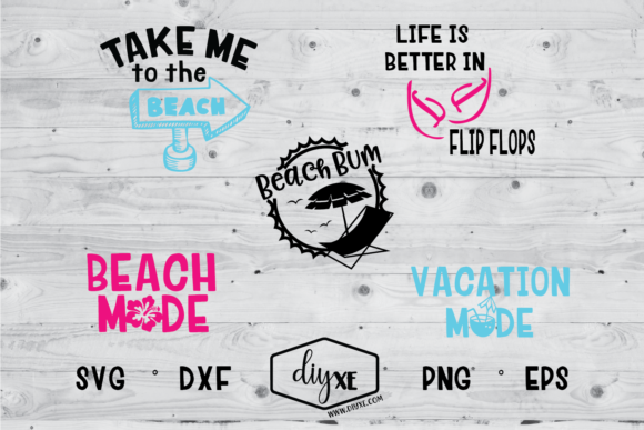 Take Me to the Beach Bundle Graphic Crafts By Sheryl Holst