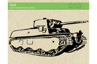 Print on Demand: Tank Graphic Crafts By CrafterOks