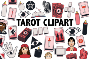 Print on Demand: Tarot Clipart Graphic Icons By Mine Eyes Design