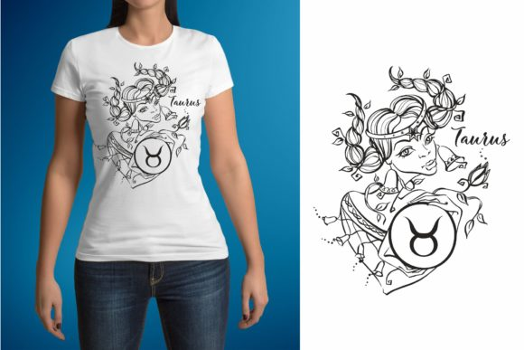 Download Free Taurus Zodiac Sign Female Image Graphic By Grigaola Creative for Cricut Explore, Silhouette and other cutting machines.