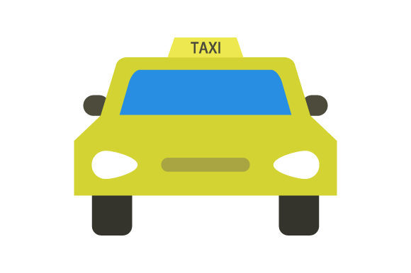 Download Free Taxi Icon Graphic By Marco Livolsi2014 Creative Fabrica for Cricut Explore, Silhouette and other cutting machines.