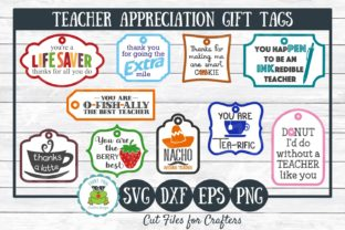 Download Free Teacher Appreciation Gift Tags Graphic By for Cricut Explore, Silhouette and other cutting machines.