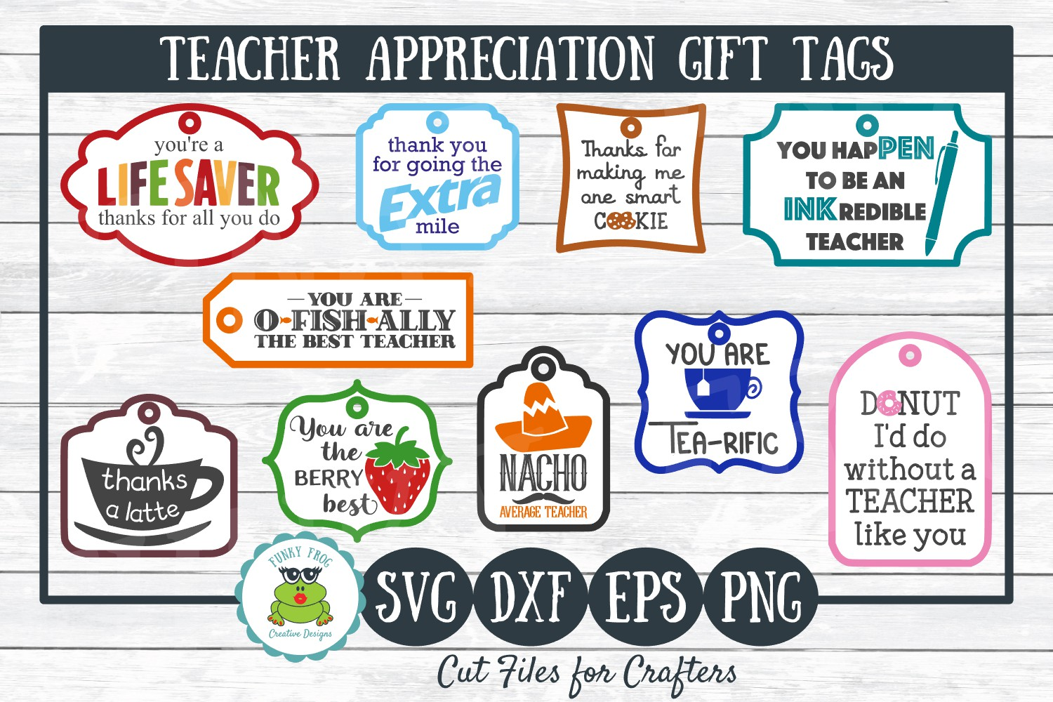 Download Free Teacher Appreciation Gift Tags Graphic By SVG Cut Files