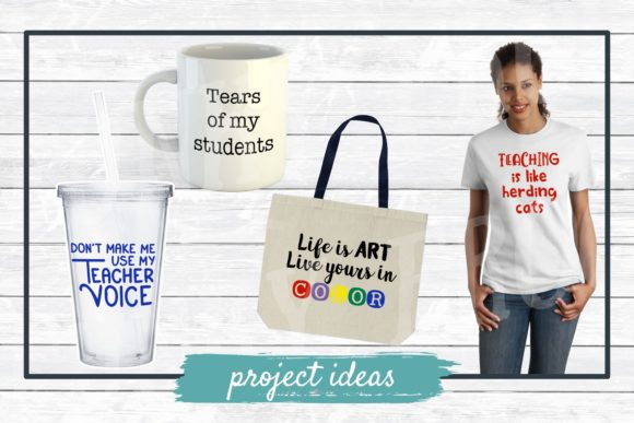 Download Free Teacher Designs Bundle Graphic By Funkyfrogcreativedesigns for Cricut Explore, Silhouette and other cutting machines.