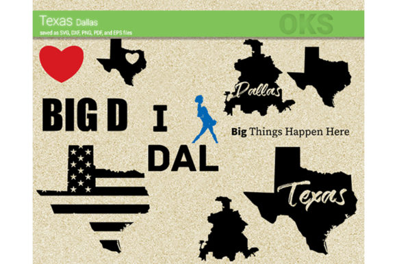 Print on Demand: Texas Dallas Vector Graphic Crafts By CrafterOks
