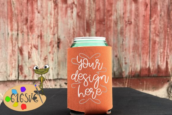 Texas Orange Can Cooler Mockup Graphic Product Mockups By 616SVG