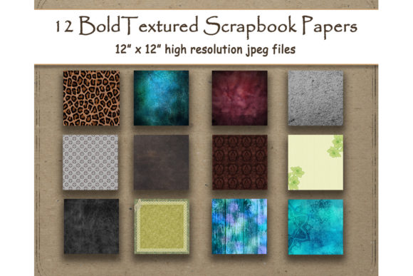 Print on Demand: Textured Digital Papers Scrapbook Graphic Backgrounds By DigitalPrintableMe