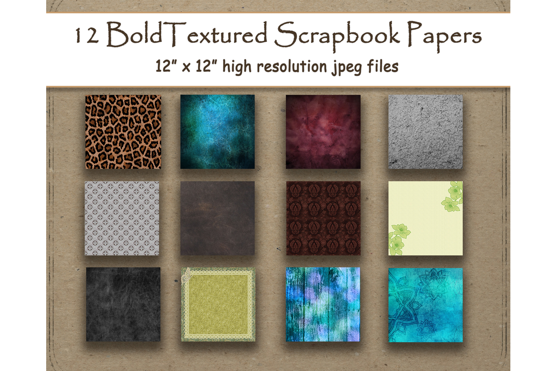 Download Free Textured Digital Papers Scrapbook Graphic By Digitalprintableme for Cricut Explore, Silhouette and other cutting machines.