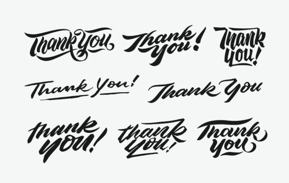 Print on Demand: Thank You Lettering Graphic Crafts By Brothers Graphic