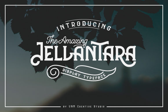 Print on Demand: The Amazing Jellantara Display Font By VNM Creative Studio