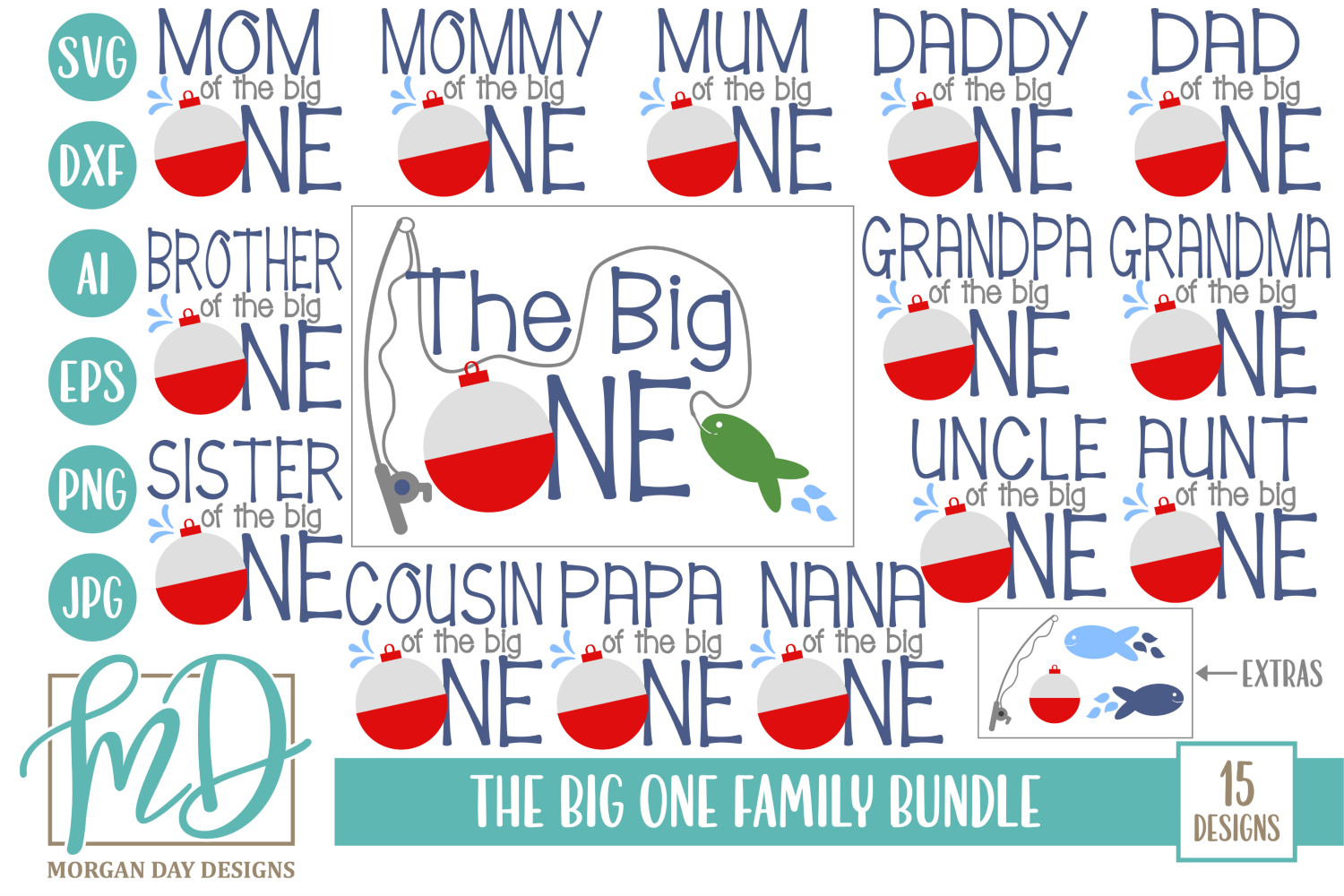 Download Free The Big One Family Svg Bundle Graphic By Morgan Day Designs for Cricut Explore, Silhouette and other cutting machines.