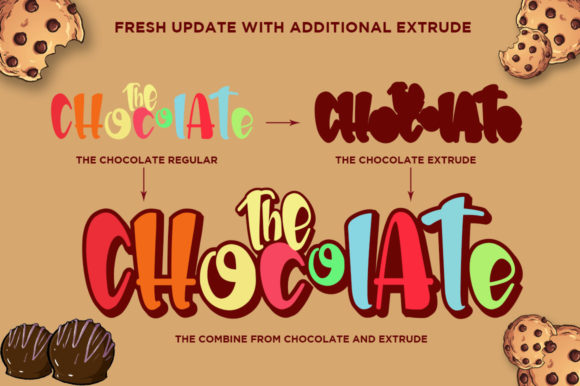 Print on Demand: The Chocolate Display Font By Haksen - Image 4