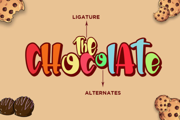 Print on Demand: The Chocolate Display Font By Haksen - Image 5