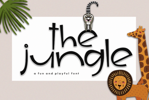 Print on Demand: The Jungle Display Font By KA Designs