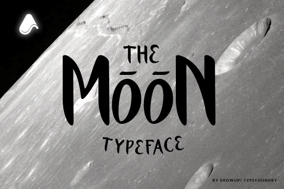 Print on Demand: The Moon Display Font By ShowUp! Typefoundry