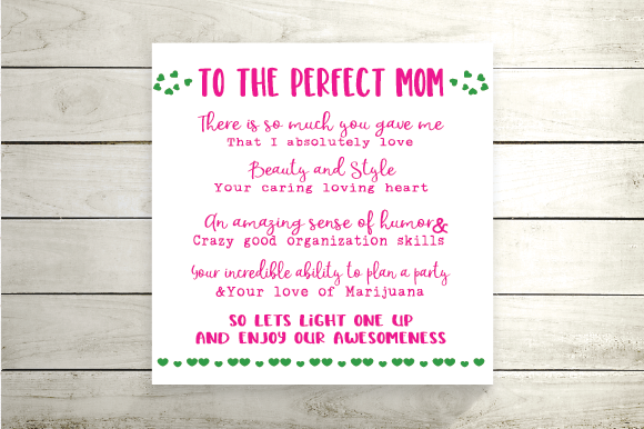 Download Free The Perfect Mother Svg Weed Svg Grafik Von Kayla Griffin for Cricut Explore, Silhouette and other cutting machines.