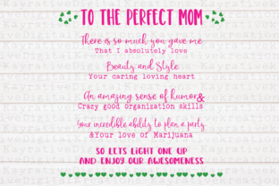 Download Free The Perfect Mother Svg Weed Svg Graphic By Kayla Griffin for Cricut Explore, Silhouette and other cutting machines.