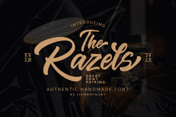 Print on Demand: The Razels Script & Handwritten Font By Ijem RockArt