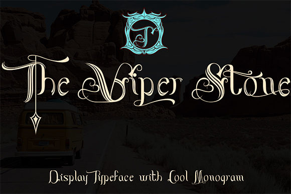 Print on Demand: The Viper Stone Display Font By Black Lotus