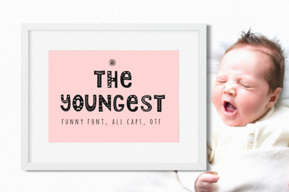 Print on Demand: The Youngest Display Font By webvilla - Image 1
