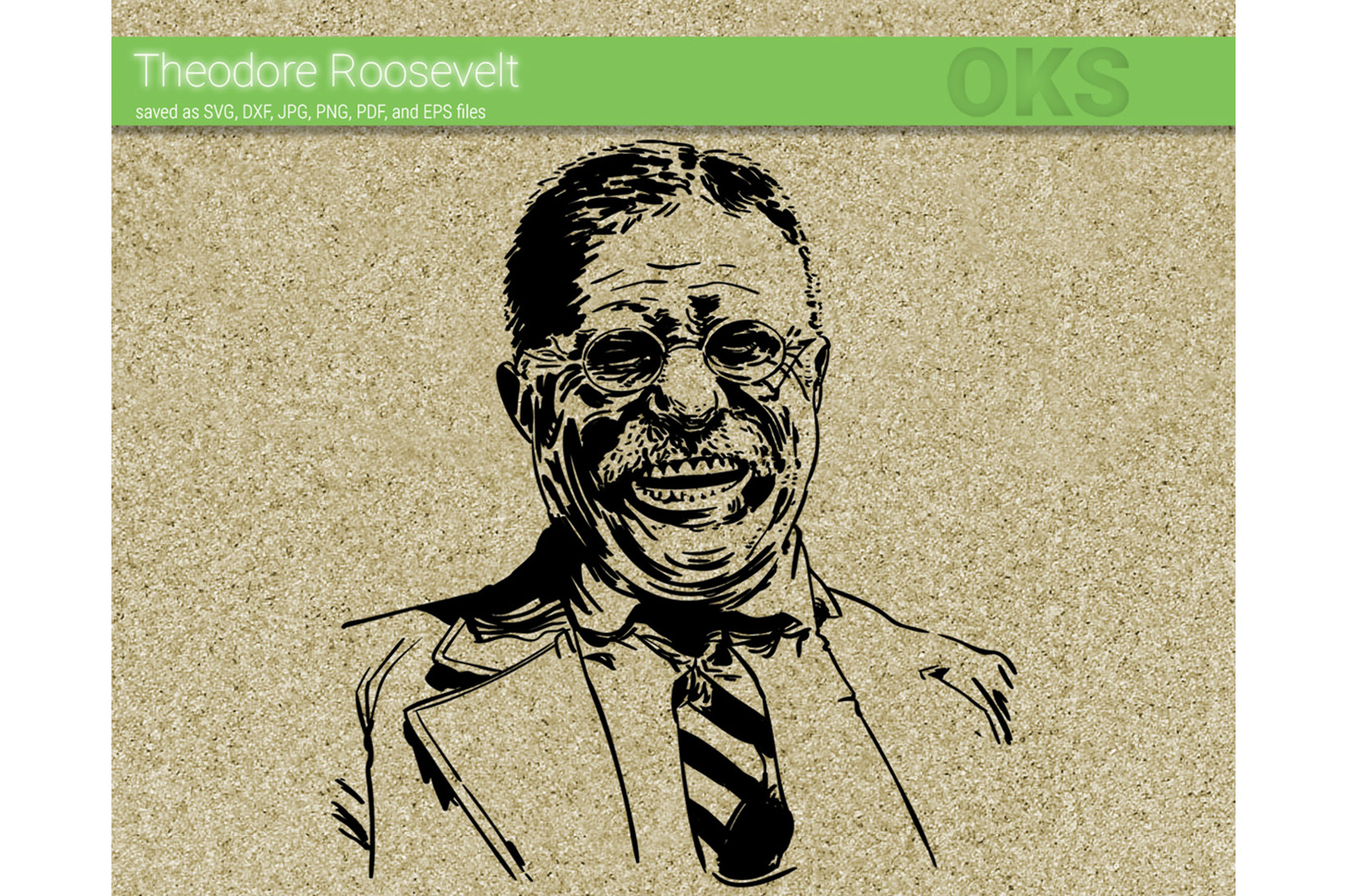 Download Free Theodore Roosevelt Svg Vector Graphic By Crafteroks Creative for Cricut Explore, Silhouette and other cutting machines.