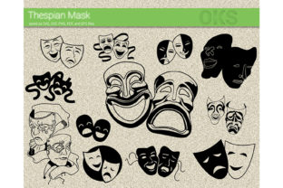 Download Free Thespian Mask Vector Film Theater Graphic By Crafteroks for Cricut Explore, Silhouette and other cutting machines.