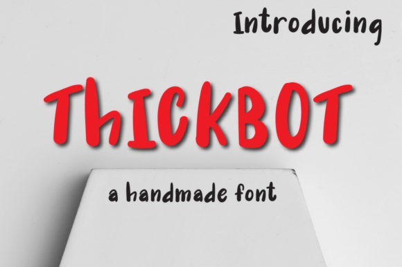 Print on Demand: Thickbot Display Font By Autumn Designs